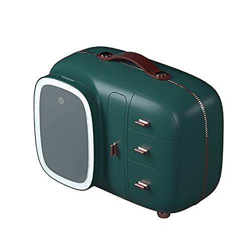 COITROZR Mallette à Maquillage, Boîte de Rangement Maquillage avec Miroir LED - Coffre à Cosmétiques - Boîte de Rangement de Maquillage De Tiroir,Vert
