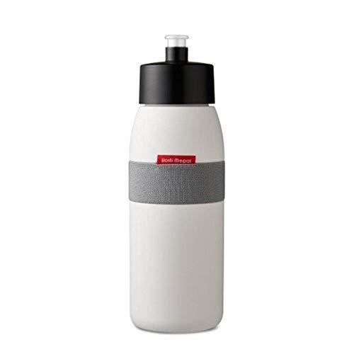 Rosti Mepal Trinkflasche Sport-Ellipse Polyethylen 7,5x 7,5x 22,5cm 500ml, weiß, 7.5 x 7.5 x 22.5 cm