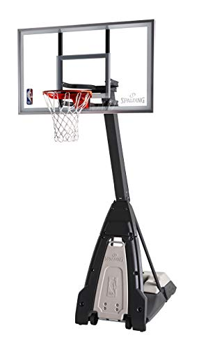 "Spalding The Beast 60"" Glass Portable Basketball Hoop"