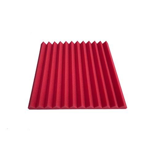 WYFDC 24pcs 300x300x25mm Espuma Acústica A Prueba De Sonido Protectora A Prueba De Sonido Panel De Absorción De Estudio De Espuma Paneles Acústicos (Color : Red)