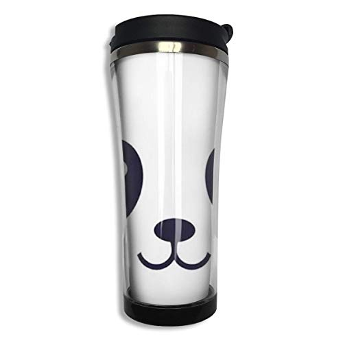 Cartoon Panda Vacuum Insulated Stainless Steel Tumbler 14oz Double Walls Can't Touch This Catus Water Bottle Coffee Mug for Office Travel Outdoor School Home
