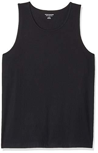 Amazon Essentials Men's Regular-Fit Solid Tank Top, Black, Medium