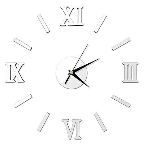 Universal Todo tipo de decoraciones de pared, Fotomural Moderno DIY DIY Mirror Superficie grande Número Número Reloj de pared Pegatina Inicio Oficina Decoración Espejo Sala de estar Diseño Reloj de pa