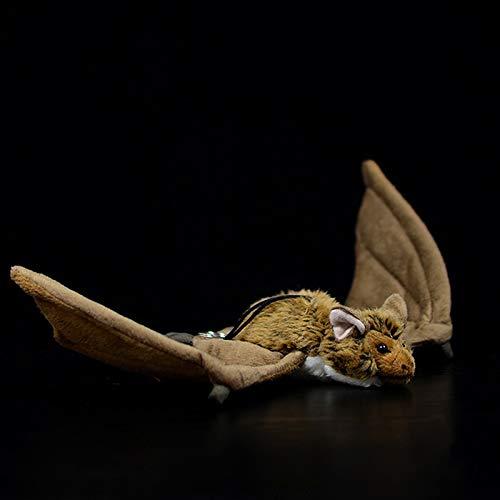 Levensechte Bruine Vleermuis Knuffels Echte Vleermuizen Pluche Poppen Realistische Wilde Dieren Knuffel Zacht Educatief Speelgoed Geschenken 38Cm