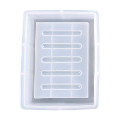 Niumen Silikonform Seifenhalter Antihaft-glatte DIY Kristall Epoxidform Silikonharz Tablettformen Für Schmuck Ring Geschirrhalter, Seifenschale, Kerzenhalter, Inneneinrichtung