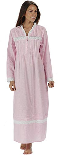 The 1 for U 100% Baumwolle Nachthemd - Annabelle S - XXXXL - Rosa Schmetterling, 3XL