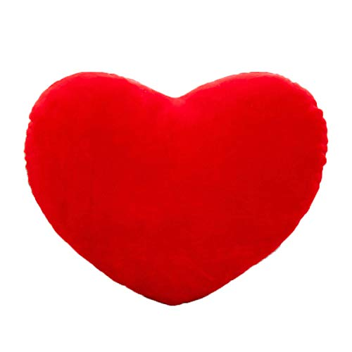 YINGGG Cute Plush Red Heart Pillow, Cushion Toy Throw Pillows Gift for Kids' Friends/Children/Girl/Valentine's Day Fit for Living Room/Bed Room/Dining Room/Office and Sofa/Cars/Chairs