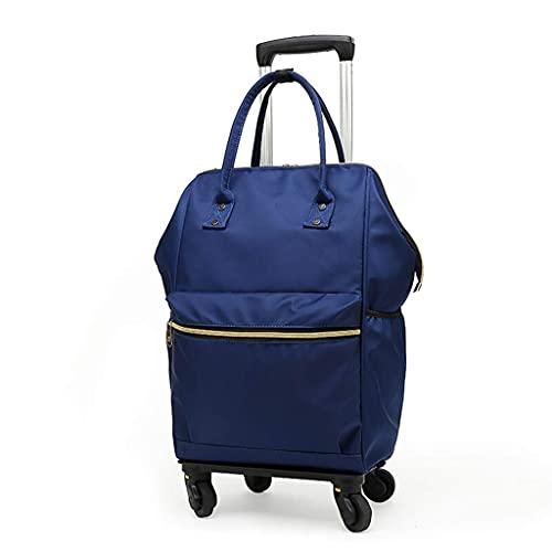 NZDY Mochila Bolsa Trolley Bag Hombres 'S Handbag Caster Gran capacidad Desmontable Mujer Bolsa de viaje de tela Ox,No removible