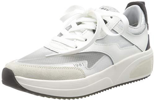 Replay Damen Flow - SHELFORD Sneaker, Weiß (White 61), 39 EU