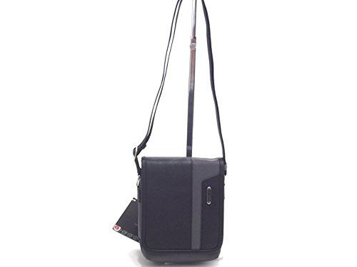 Roncato borsa uomo, Panama 400861, bandoliera in ecopelle e nylon antracite nero
