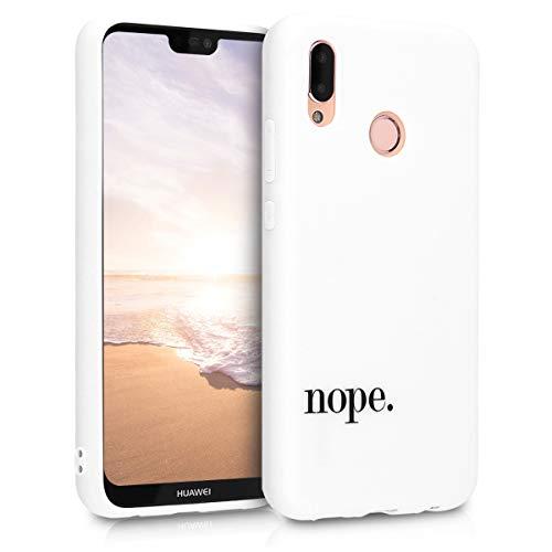 kwmobile Hülle kompatibel mit Huawei P20 Lite - Handyhülle Silikon Case - Nope Schwarz Weiß