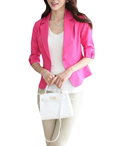 Sweetmini Womens Vogue jas driekwart mouw een knop blazer jassen