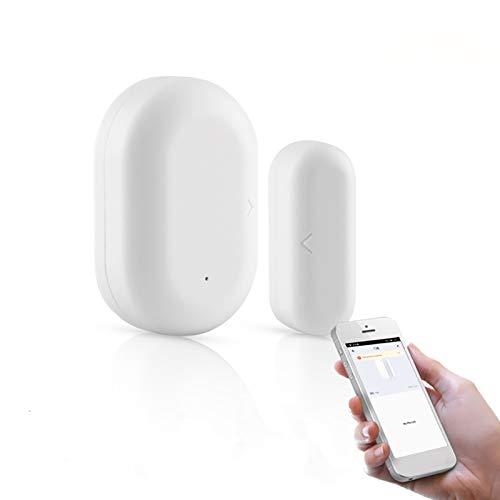 Huir Sensor de interruptor inalámbrico inteligente para puerta y ventana, compatible con Alexa, sensor de alarma magnética de Google Home, alarma inteligente para proteger la seguridad familiar