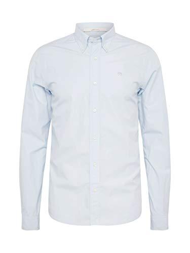 Scotch & Soda Herren Crispy poplin shirt regular fit button down collar Freizeithemd, Blau (Blue 50), Small (Herstellergröße: S)