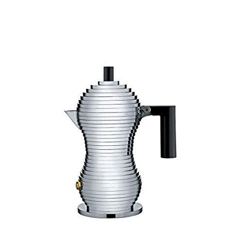 Alessi Kaffeekanne, schwarz, Aluminium, 8.3 x 10.5 x 35 cm