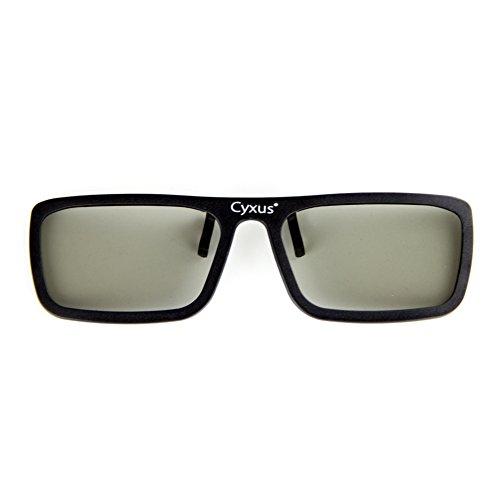 Cyxus polarizado 3D Clip on Gafas para RealD 3D TV/Cines/Películas/Proyectores, Compatible con portátiles, Peso Ligero y cómodo, Pantalla Ultra Clear HD (RealD 3000B66)