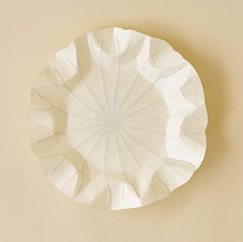 Flexible Hanji-Papierschale Lotusblatt (M) Weiß – Ablage / Servierschale aus traditionellem Hanji-Papier: Leicht, formbar und wasserabweisend