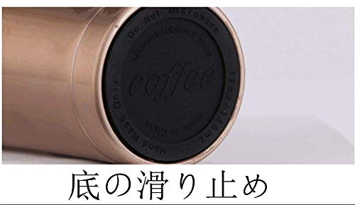 L'amoshareタンブラーふた付きコンビニマグダイレクトタイプ真空断熱直接ドリップ0.5L(黒)