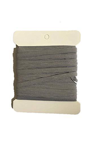 NIKB 1/4 inch Gray Elastic for Sewing Grey Elastic 1/4 inch 11-Yards Elastic Bands for Masks /1/4 inch Grey Elastic Cord for Sewing (1/4inch 11Yards Flat, Grey)