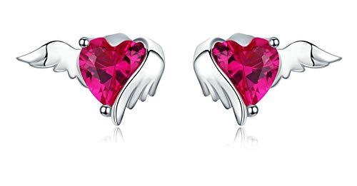 Fashion 925 Sterling Silver Angel Stud Earrings for Women Sterling Silver Jewelry
