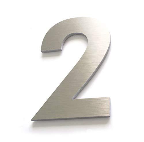 """""""2"""" Numeros para casa delgados – 18cm 7inches – Aluminio Cepillado – Numeros Residenciales"""