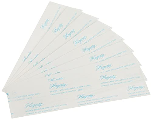 Hagerty 70000 Set of 8 2-by-7-Inch Silver Protection Strips for Silver Storage, Blue
