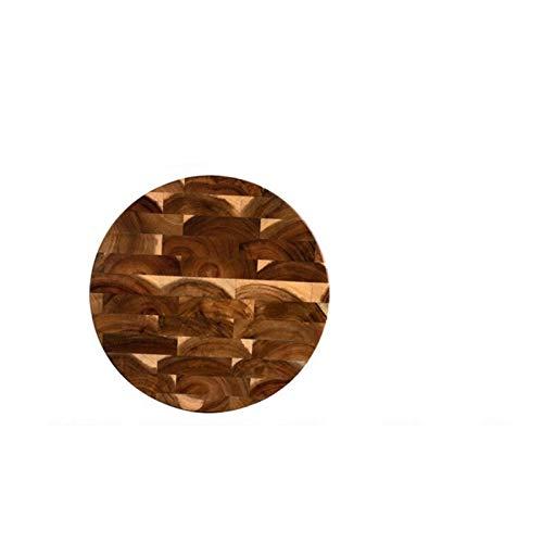 Tablero de corte de madera de acacia 14 x 9 x 1 pulgada con agarre de mano sólido robusto picado porción de bandeja (Color : D Dia 33.5cm)