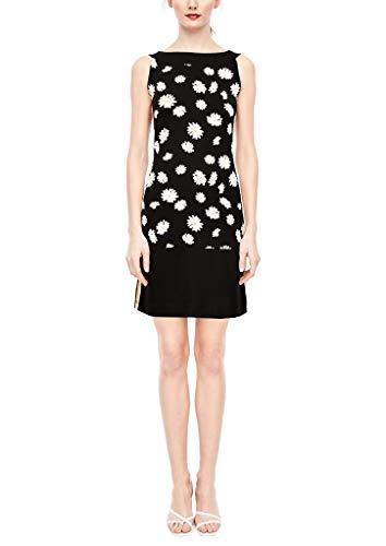 s.Oliver BLACK LABEL Damen Longshirt mit Tape-Details DAISIES PRINT 42