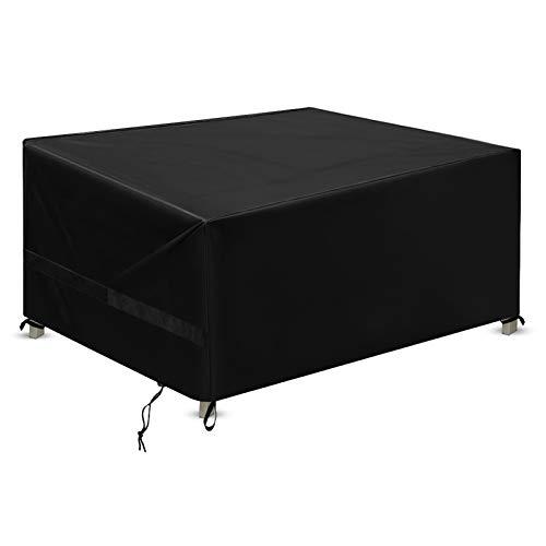 Estefanlo - Juego de fundas para muebles de patio (243,8 x 162,6 x 101,6 cm, 420D, resistente al agua, lluvia, nieve, polvo/viento, antiUV, velcro fijo)