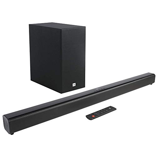 JBL Cinema SB160 2.1 Channel Soundbar with Wireless Subwoofer (220 Watts, Dolby...
