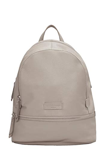 Liebeskind Berlin Damen Essential Lotta Backpack Small Rucksackhandtasche Grau (String Grey) 11x32x26 cm