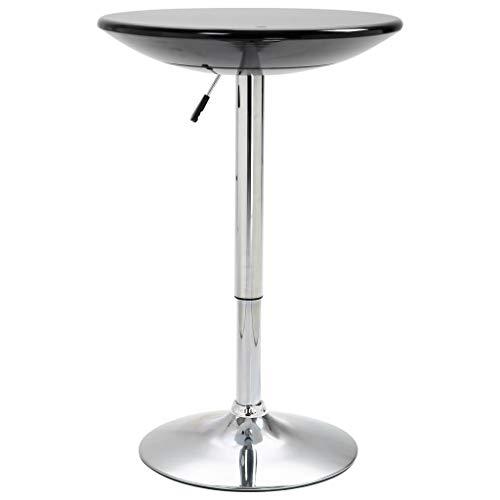 Tidyard Bartisch Partytisch Bistrotisch Runde Tischplatte,Stehtisch Tisch Hochtisch,Tresentisch Partytisch Bistrostehtisch höhenverstellbaren,Küchentisch Esstisch Bar Ø60 cm,Schwarz