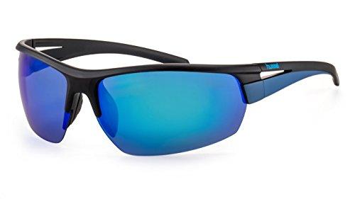 hummel Polarisierte Sportbrille/Leichte Herren Sonnenbrille mit verspiegelten Gläsern F2504588
