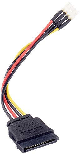 DeLock Kabel Power SATA 15 Pin Stecker Floppy 4 Pin Stecker 15 cm