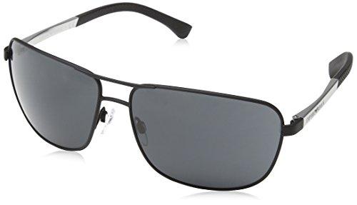 Emporio Armani Unisex Sonnenbrille, Schwarz (Black Rubber 309487), X-Large (Herstellergröße: 64)