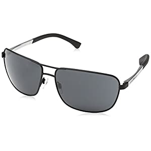 Armani sunglasses for men and women Emporio Armani EA2033 3094/87 Matte Black EA2033 Square Pilot Sunglasses Lens C