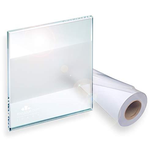 Decooo.be Film occultant Brise-Vue sablé/givré pour vitres et fenêtres (Rouleau de 98 cm sur 10 m) + Cutter Offert