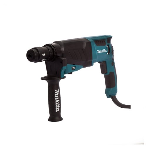 Makita HR2630T 110 V SDS Plus 3-Mode Rotary Hammer Drill with Quick Change Chuck in a Carry Case