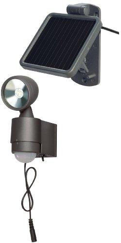 Brennenstuhl Solar LED-Spot SOL 1x4 IP44 mit Infrarot-Bewegungsmelder 4xLED Anthrazit, 1170960