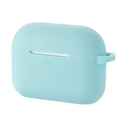 CEEPUY Silikonhülle für Apple AirPods Pro Hülle - Unterstützt Kabelloses Laden, Stoßfeste Schutzhülle,[Front-LED Sichtbar],Baby blau