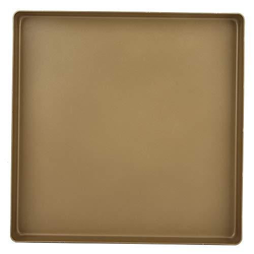 28x28x3cm Baking Tin Aluminum Alloy Gold Square Shape Baking Pan Cake Baking Tins Non-Stick Baking Tray for Cookie Toaster Bread Pizza