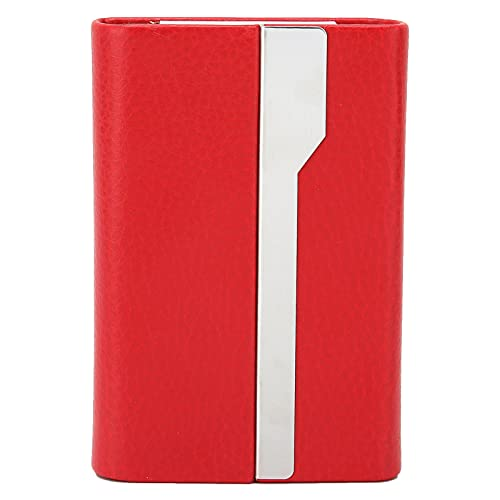 GAESHOW Utsökt visitkortshållare namn kort låda förvaring fodral perfekt present till män och kvinnor (röd)