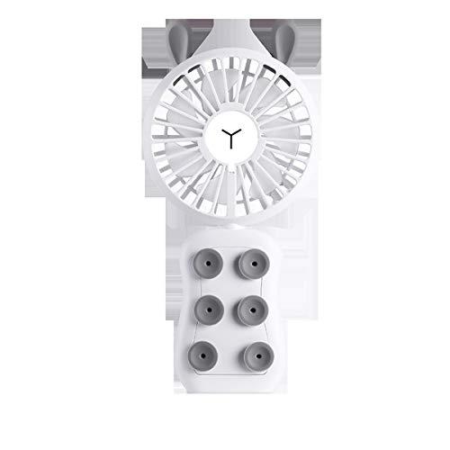 Suzanne Humidificador de Vapor humidificador de Aire frío Gaming USB Ventilador de Mano de Carga del teléfono móvil Mini Mesa Ventilador de pie (Color : White)