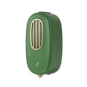 PRP Dispenser di Sapone Automatico a Parete Dispenser di Sapone schiumogeno Senza Contatto Sensore di Movimento a infrarossi Dispenser di liquidi Ricaricabile USB (Verde)