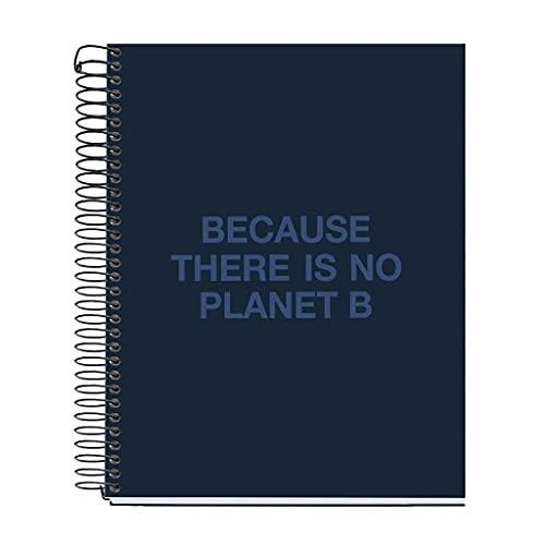 ECOALF powered by MIQUELRIUS - Cuaderno reciclado A5 cuadrícula 120 hojas - Azul Marino