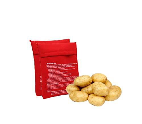 4Pcs wiederverwendbare waschbare Mikrowellen-Kartoffel-Tasche Ofenkartoffel-Mikrowellen-Backbeutel-Beutel, der in gerade 4Minutes Kocherbeutel kocht