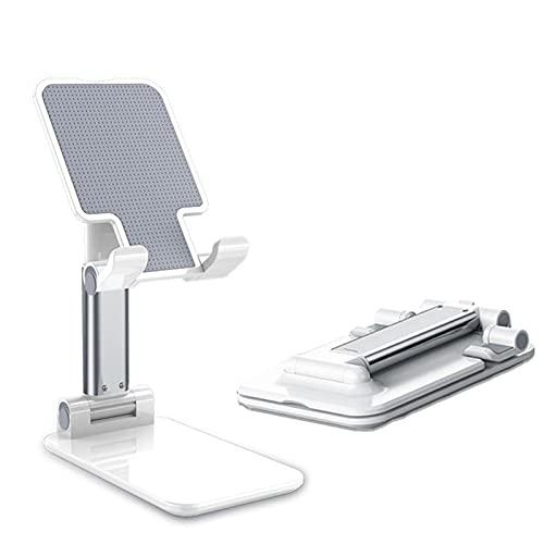 Soporte ajustable del teléfono celular, Soporte plegable de la tableta Teléfono móvil Universal Portátil retráctil multifuncional Soporte de teléfono estable (blanco)