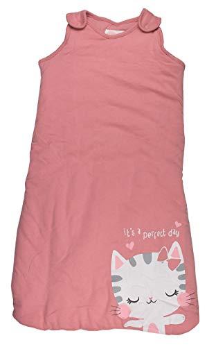 Baby Schlafsack wattiert Babyschlafsack ärmellos Baumwolle Rosa 70 cm