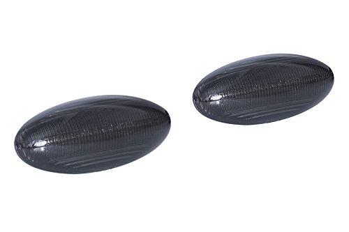 LED zijknipperlichten rookglas zwart