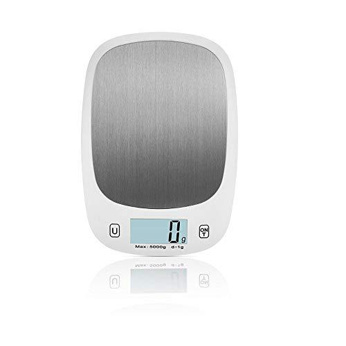 Wiegende Skala Küchenwaage Einfach ablesbare LCD Tragbarer Küchenwaage Edelstahl-Digital für Fitness-Tracking (Color : Black| Size : 5KG) | Küche und Esszimmer > Küchengeräte > Küchenwaagen | BGROESTWB
